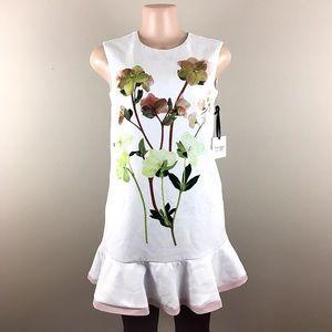 NWT Victoria Beckham White Floral Dress - B19